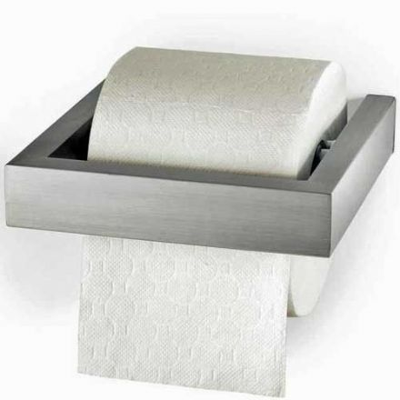 Zack Linea Polished Stainless Steel Toilet Roll Holder - 40031